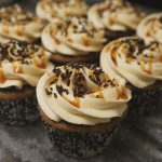 Chocolate with Salted Caramel American Buttercream and Caramel Drizzle