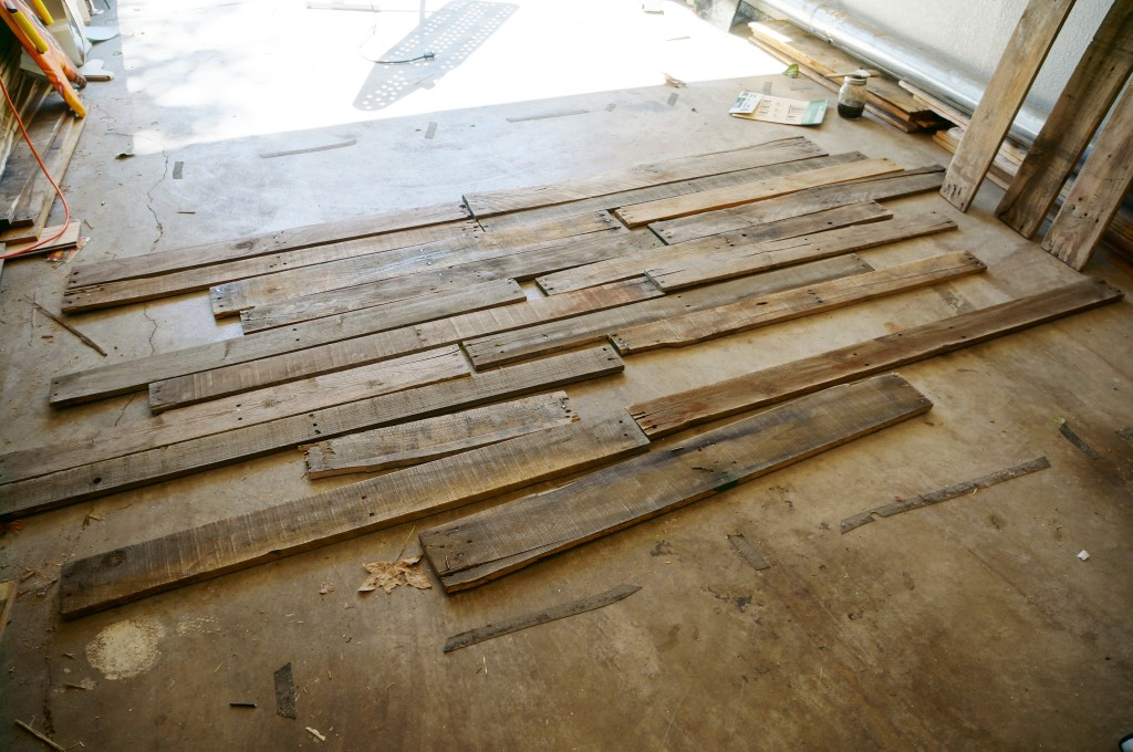 Pallet wood selection.